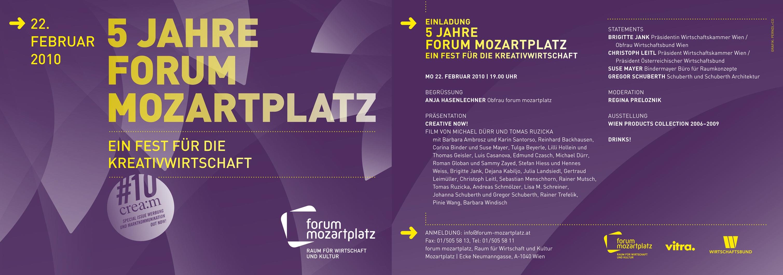 Jahre Forum Mozartplatz